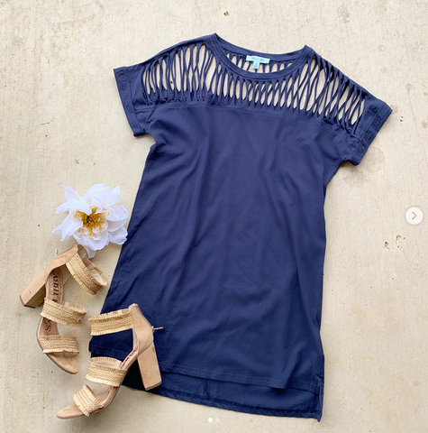 Now and Forever Navy Dress