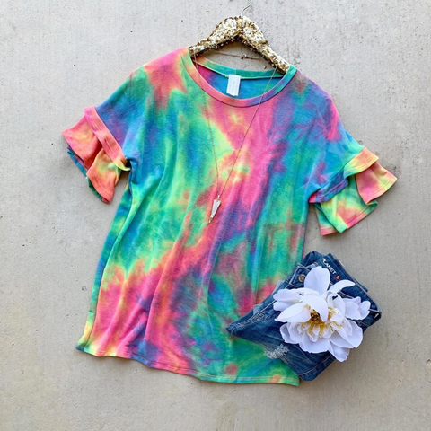 Keep Going Tie Dye Top
