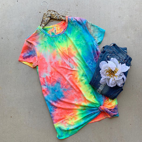Going Wild Tie Dye Top