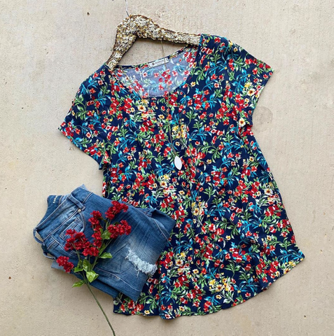 Garden of Hope Floral Top