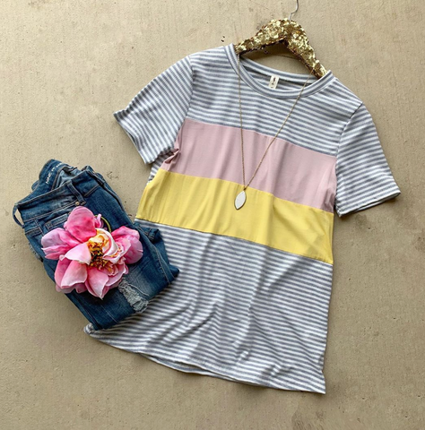 All Good Colorblock Top