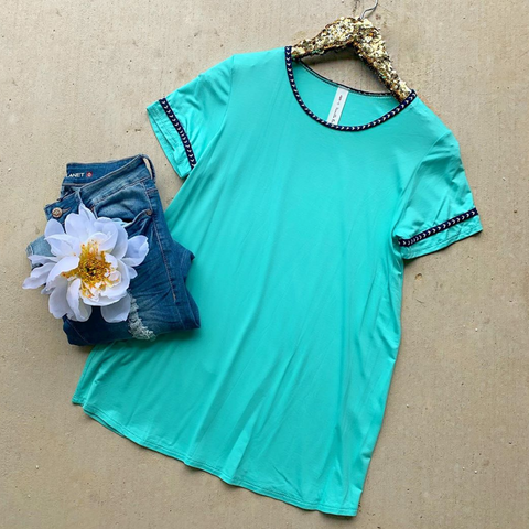 Come with Me Teal Top