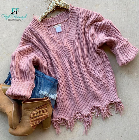 Coming Home Distressed Sweater