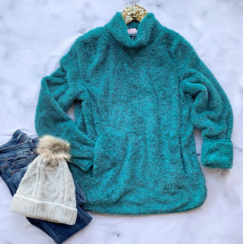 Light Up Sea Green Pullover