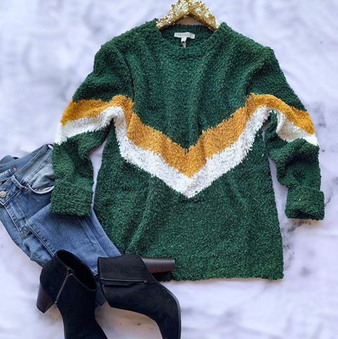 Cozy Times Green Sweater