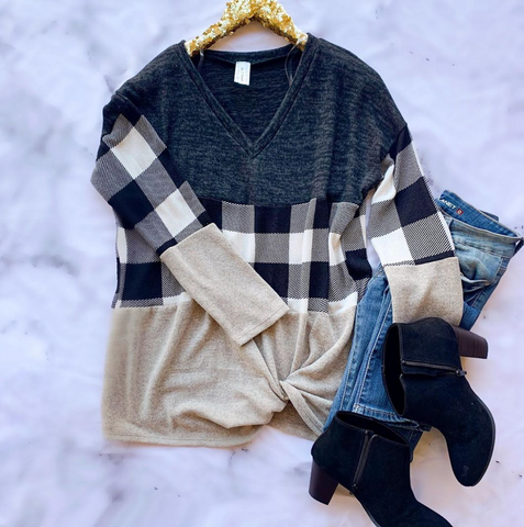 Get Along Plaid Tunic