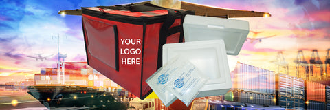 Temprecord Cold Chain Transport solutions. Gel packs, outer carry bags, polystyrene bins