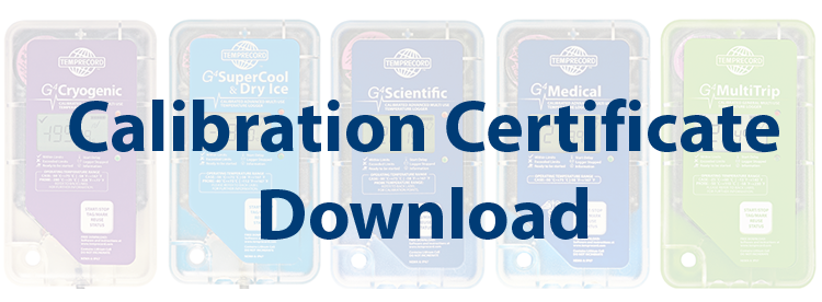 Download your Temprecord Calibration Certificate