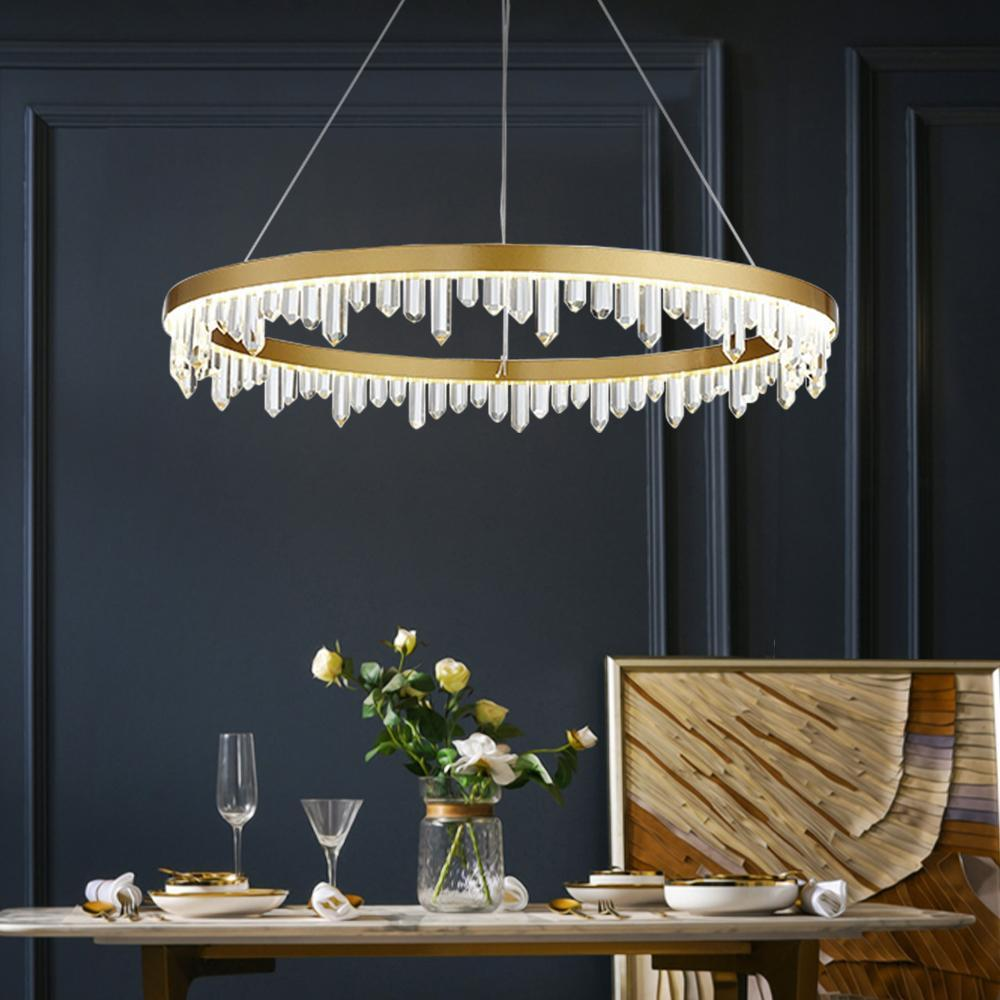 Crystal Iceberg Raindrop Pendant Light