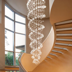 Spiral Double  LED Crystal Chandelier