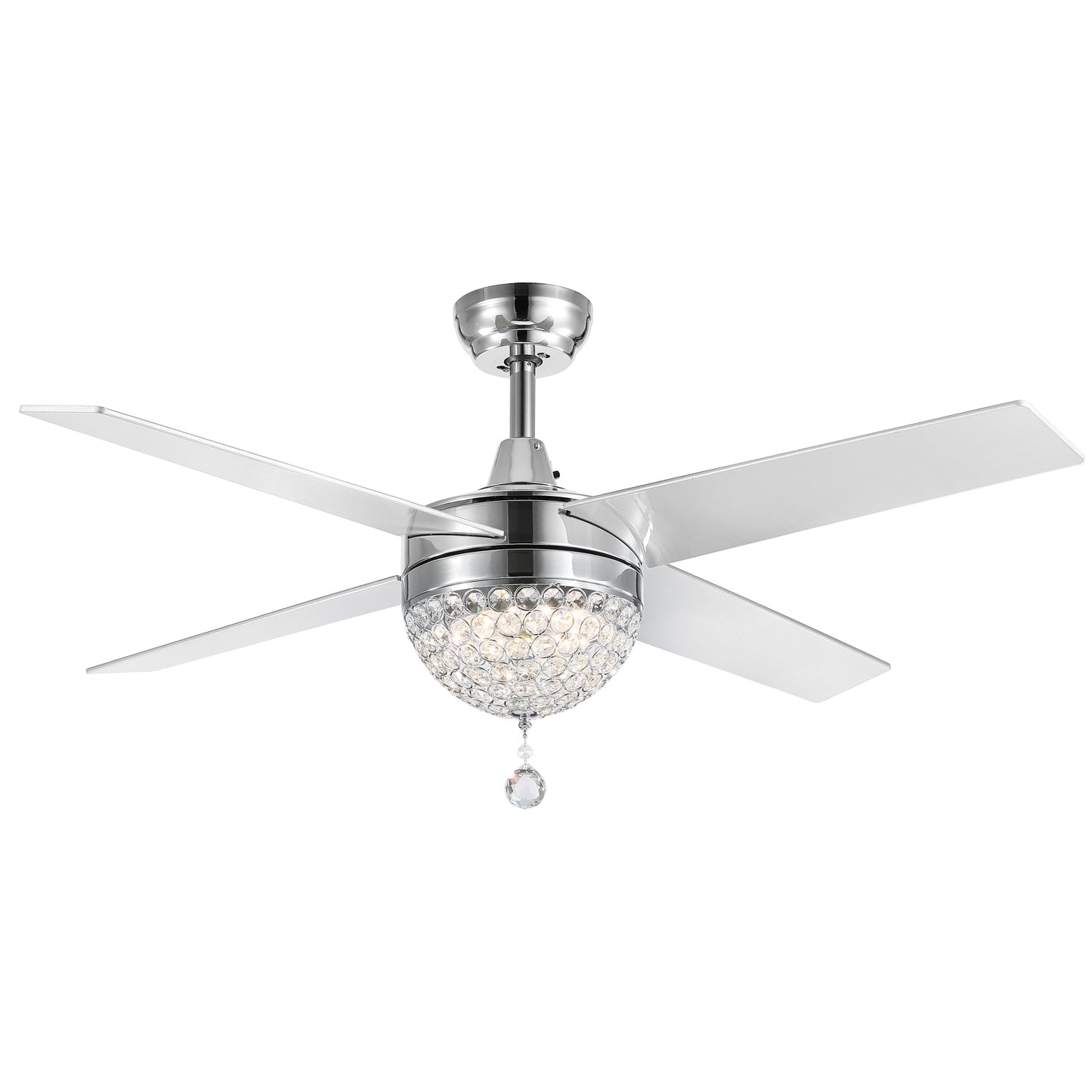 Polished Blades Ceiling Fan with Light