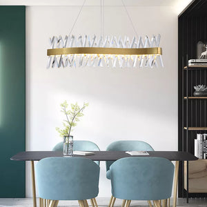 Chandelier with Crystal Bars