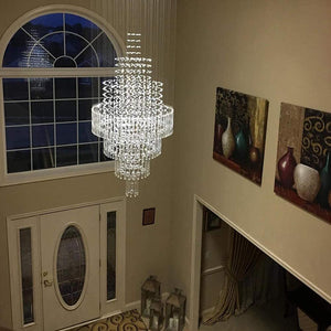 Modern Luxury Staircase Raindrop Chandeliers