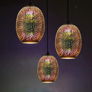 Colourful Glass Fireworks Hanging Light
