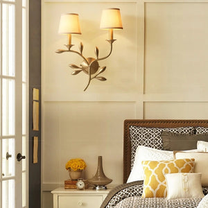 Wall Lamp with Brass Finish