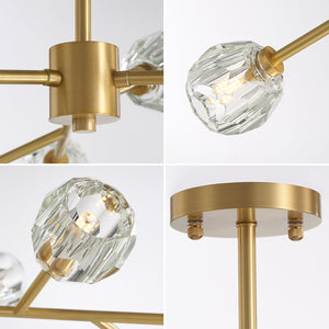 Modern Brass Sputnik Ceiling Light