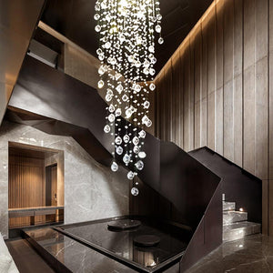 Round Crystal Chandelier With  Raindrop
