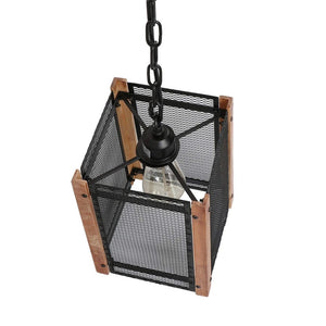 Square Metal Mesh Pendant Light