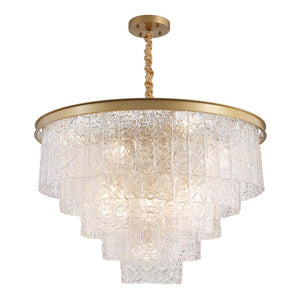 round crystal pendant light