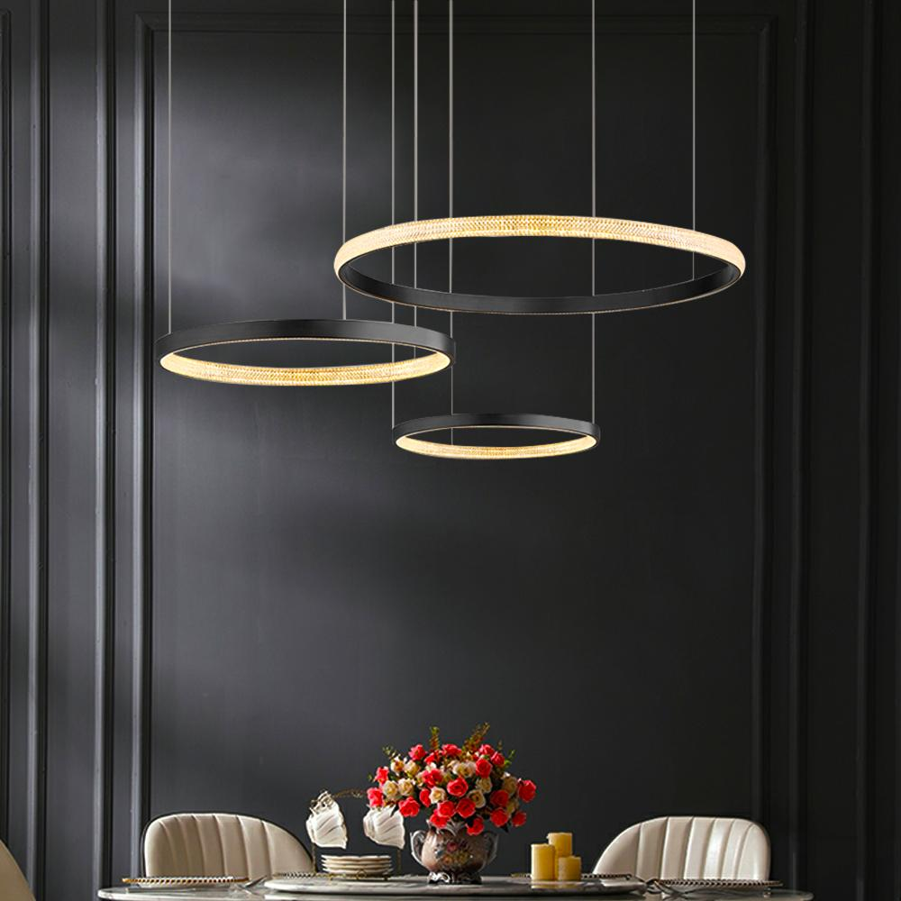 Circular LED Rings Chandelier
