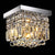 crystal square flush mount
