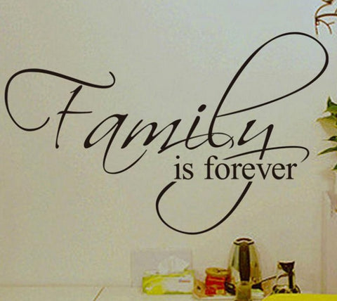 """Family is forever"" wallsticker - CITYSHOPPEN.DK"