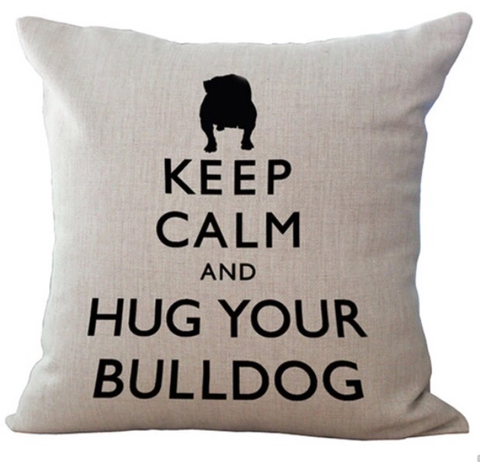 Pudebetræk, Keep calm and hug your bulldog