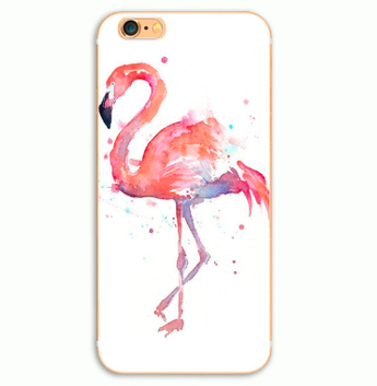 Flower Flamingo print cover til iPhone 7 / iPhone 8