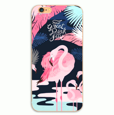 Flamingo print cover til iPhone 7 / iPhone 8