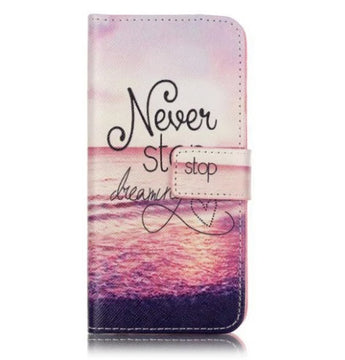 """Never stop dreaming"" iPhone 7 / iPhone 8 flip cover"
