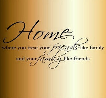 """Home, Friends and Family"" wallsticker - CITYSHOPPEN.DK"