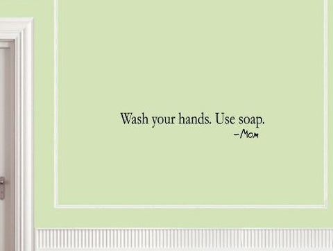 """Wash your hands"" wallsticker - CITYSHOPPEN.DK"