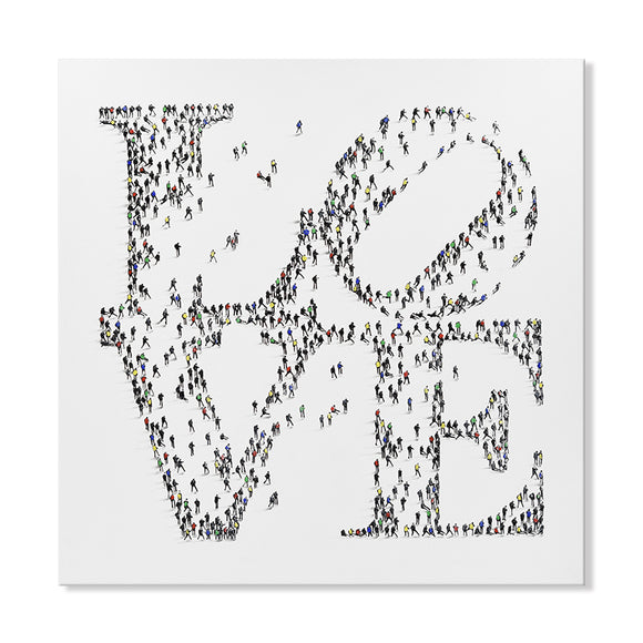 Handpainted LOVE Graphic Canvas