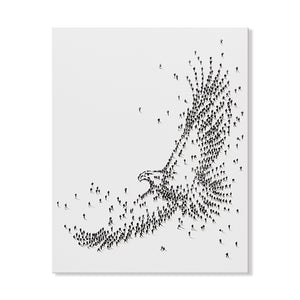 Handpainted Soaring Eagle Canvas