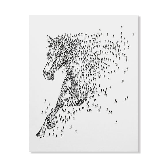 Handpainted Galloping Horse Canvas