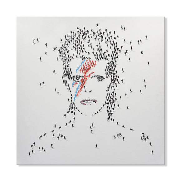 Handpainted David Bowie Canvas