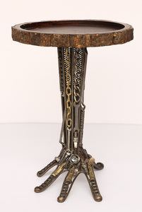 Recycled Wrought Iron Hand Side Table