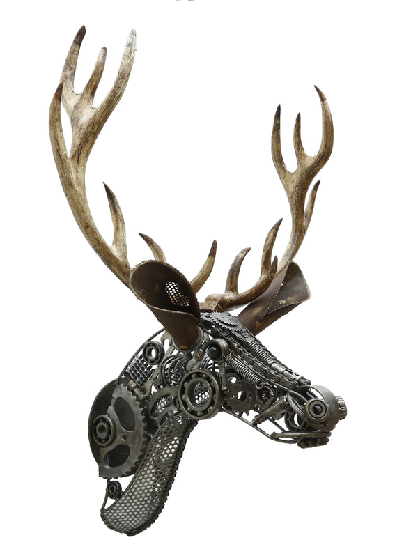 Deer Head Sculpture