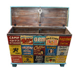 Hand Painted Vintage Advertising Narrow Chest