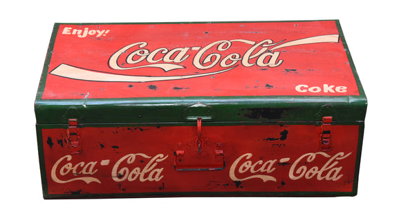 Hand Painted Iron Storage Box Coca Cola
