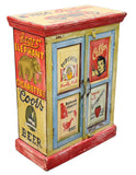 Hand Painted Vintage Advertising 2 Door Cupboard