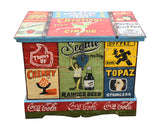 Hand Painted Vintage Advertising Storage Chest