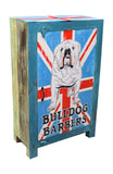 Hand Painted British Bulldog Narrow 1 Door Cupboard