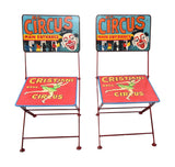 Hand Painted Iron Circus Folding Chair