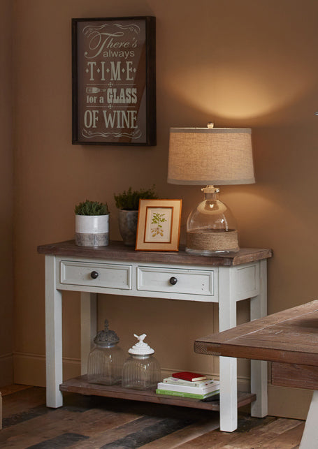 Hamptons Hall Console Table with 2 Drawers