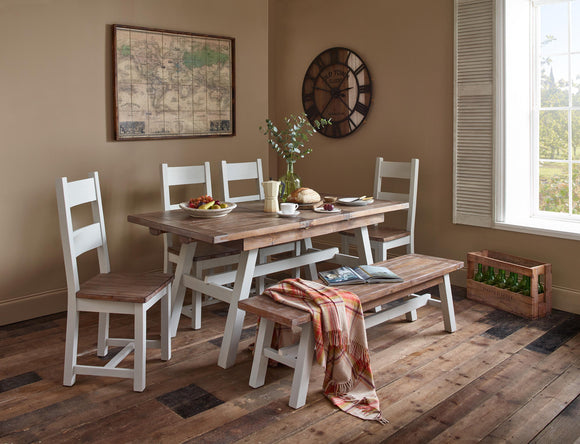 Hamptons Dining Set - 1 Table with 6 chairs