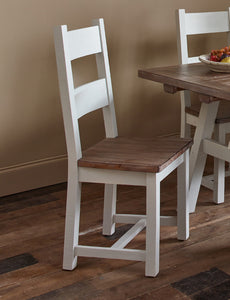 Hamptons Dining Chair with Timber Seat