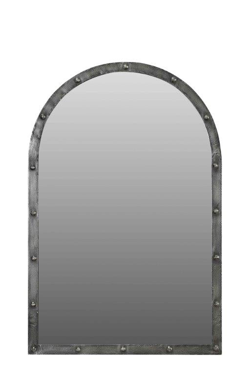 Arched Mirror With Iron Frame