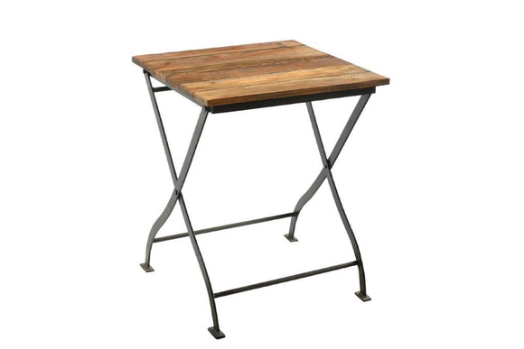Upcycled Folding Iron Table
