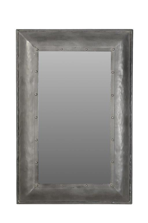 Antique Mirror with Iron Frame 2